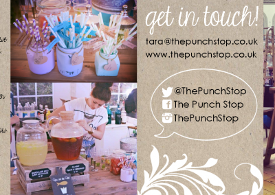 The Punch Stop (folding business card)